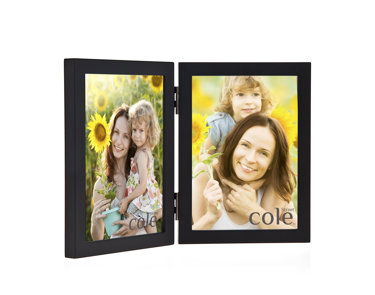Amazon.com - Philip Whitney 4x6 Black Wooden Hinged Double Vertical ...