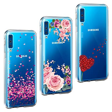 newest 78cec ccd69 AROYI [3 Pack Samsung Galaxy A7 2018 Case,Clear Ultra Slim Thin Soft  Flexible Shockproof Bumper TPU Case Rubber Gel Silicone Skin Back Cover for  ...