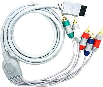 Cable Adaptador de 1 Conexion de Wii a 5 x AV Componentes para WII TV HDTV 2500: Amazon.es: Electrónica