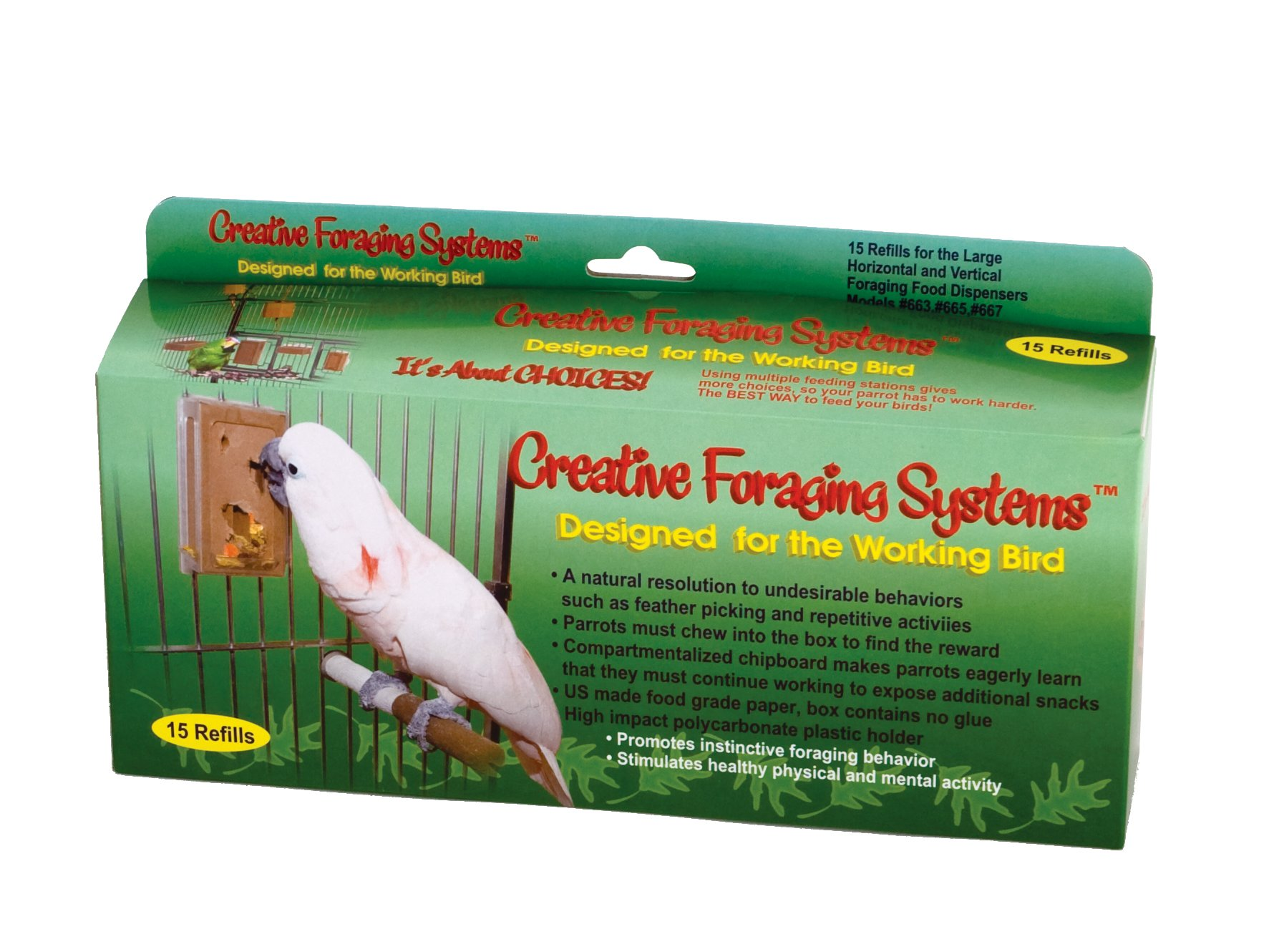 Creative Foraging Systems 661 Large Refill Boxes, 3 inches Wide X 6 inches by Paradise Toys
