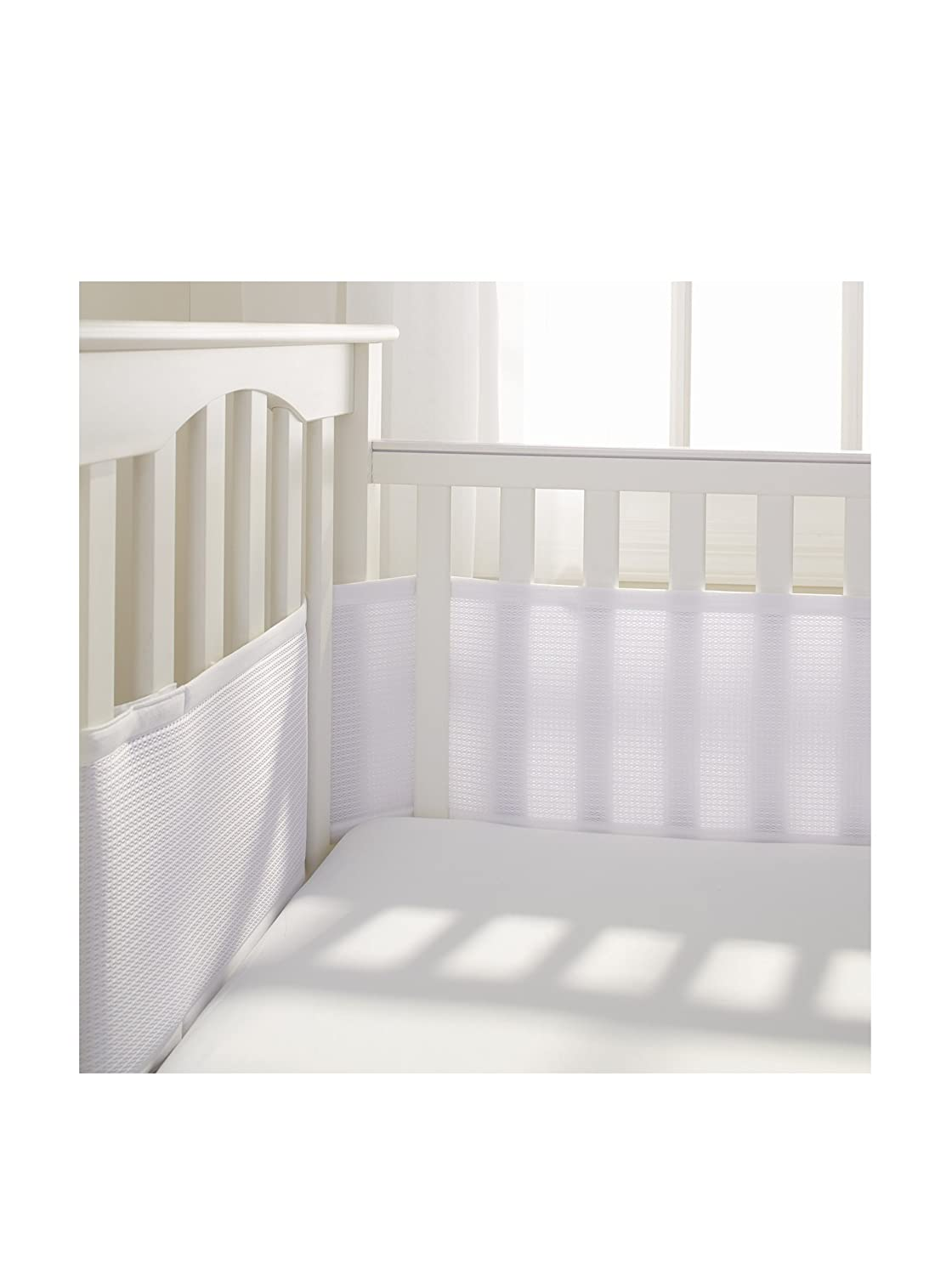 BreathableBaby | Deluxe Breathable Mesh Crib Liner |White 25101