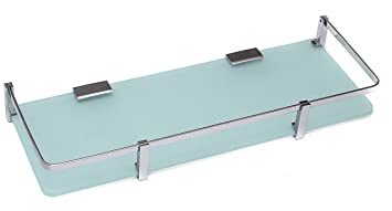 glass shelves for bathroom. klaxon front glass shelf - bathroom shelves (chrome finish) for