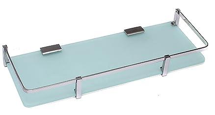 klaxon front glass shelf bathroom front glass shelves chrome finish
