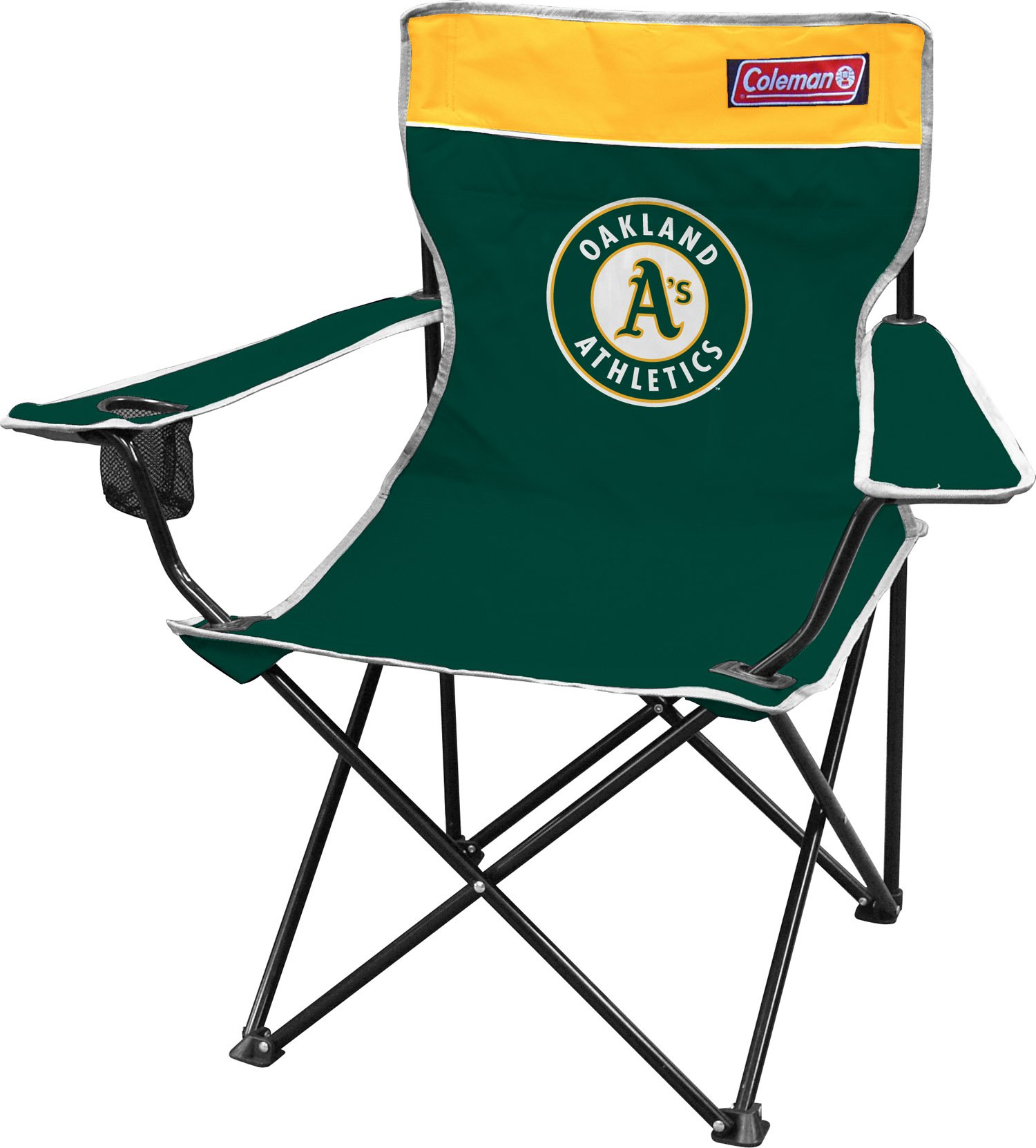 MLB Oakland Athletics Broadband Quad Chair, Large, Green