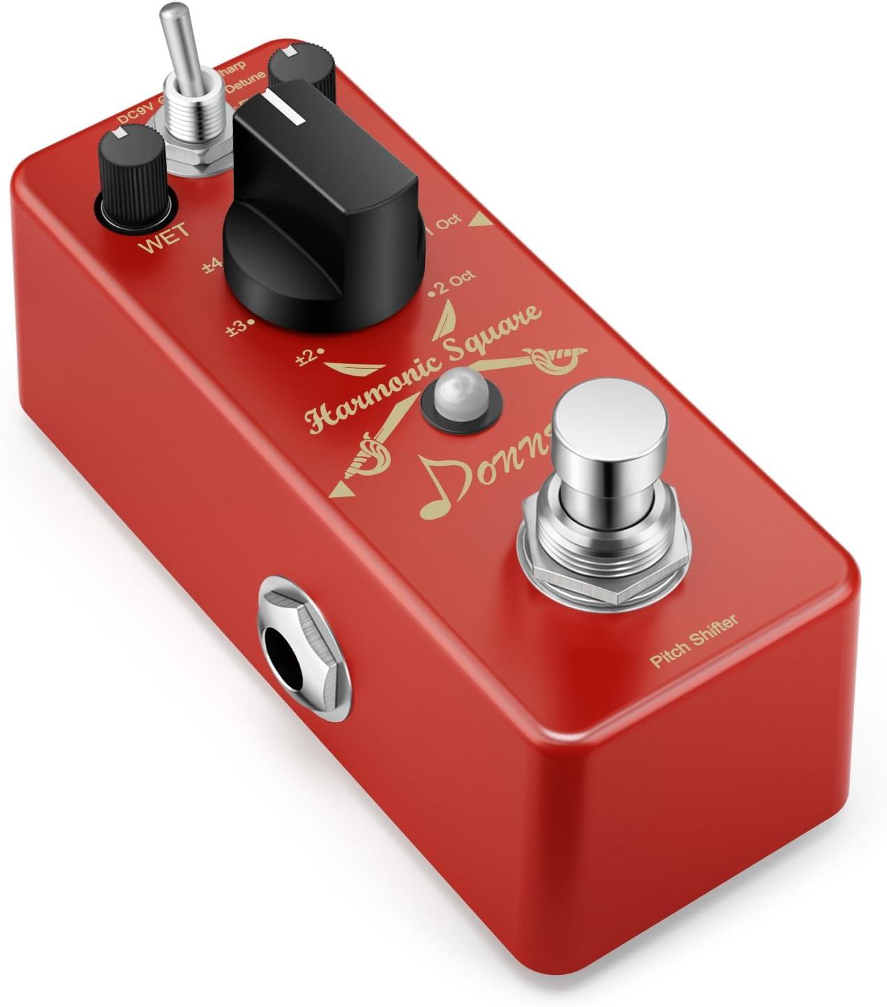 Donner Octave Pedal de Guitarra - 7 Modos, Digital Harmonic Square, Pedal Efectos de Guitarra