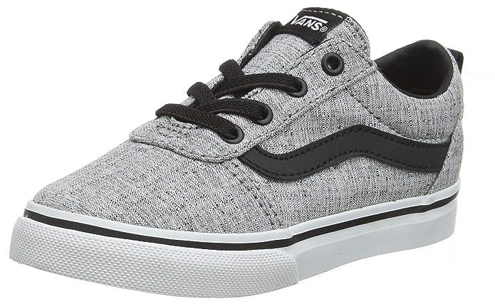 Vans Ward Sneakers Unisex Mädchen/Jungen Baby Schuhe Grau mit schwarzem Streifen