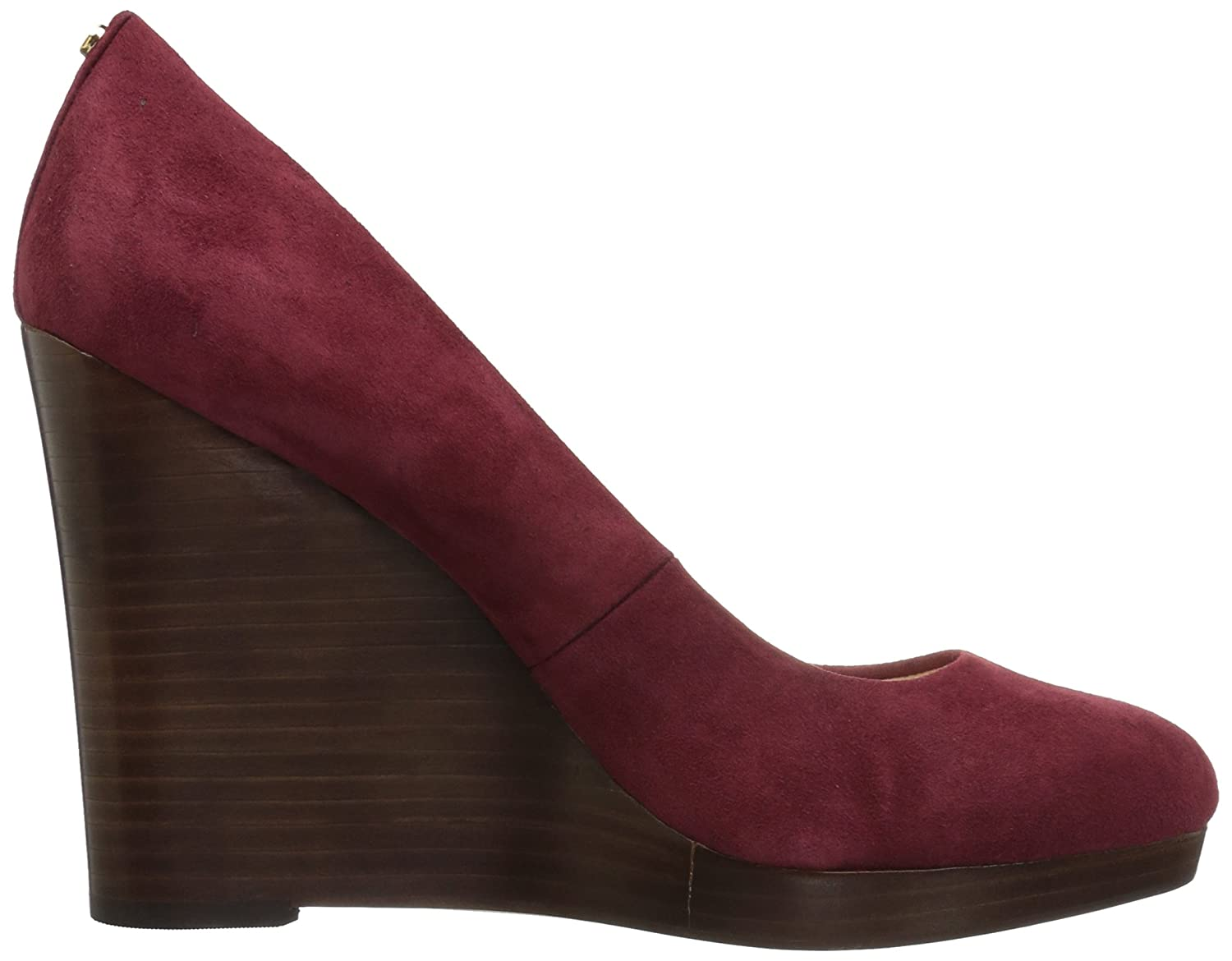 Nine West Women's Halenia Suede Wedge Pump B01N1NY68T 10.5 B(M) US|Wine Kid