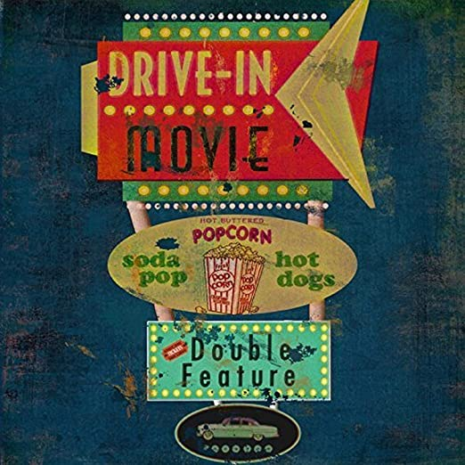 Amazon Com Buyartforless Retro Drive In Movie Theater 12x12 Vintage Art Print Poster By Marilu Windvand Posters Prints