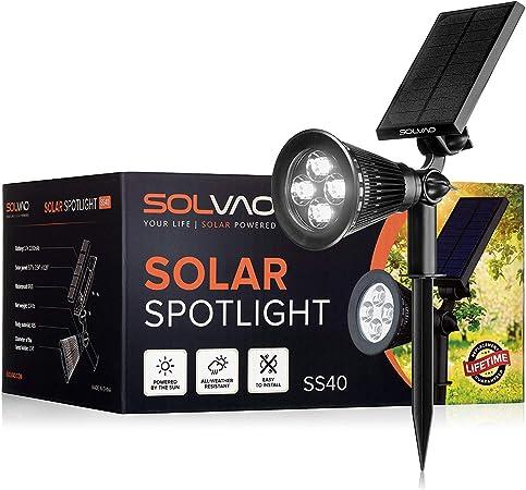 Amazon.com: SOLVAO - Foco solar, Jardín, Negro: Jardín y ...