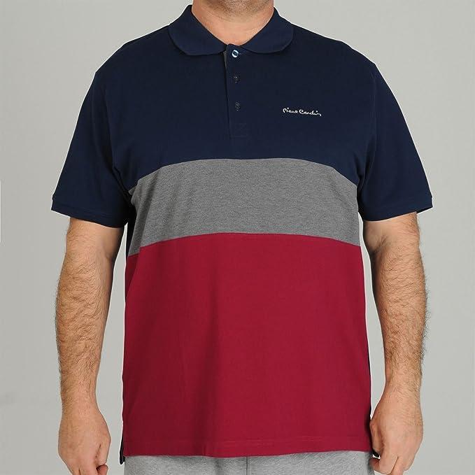 Pierre Cardin Polo de rayas de color camiseta para hombre azul ...