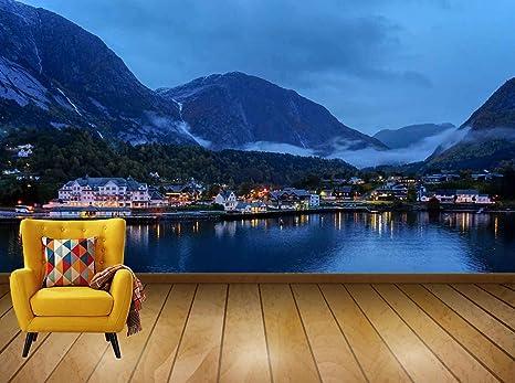 Buy Avikalp Exclusive Awi7667 Norway Fjord Dawn Mountain