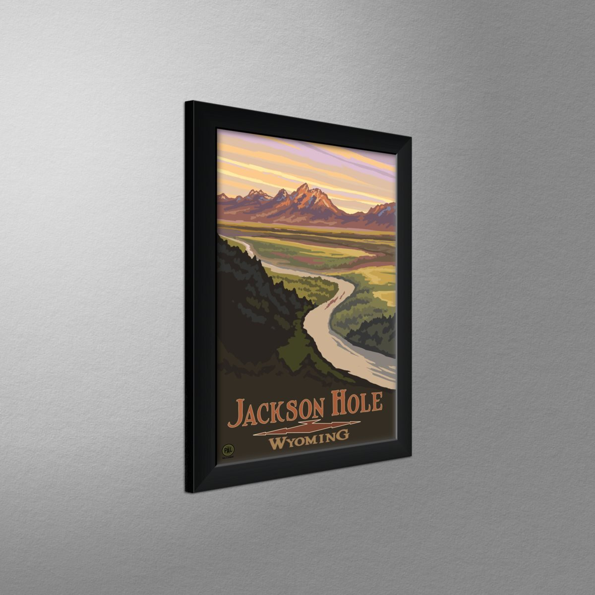 Lanquist 12 x 18 Jackson Hole Wyoming Snake River Overlook Travel Art Print Poster by Paul A