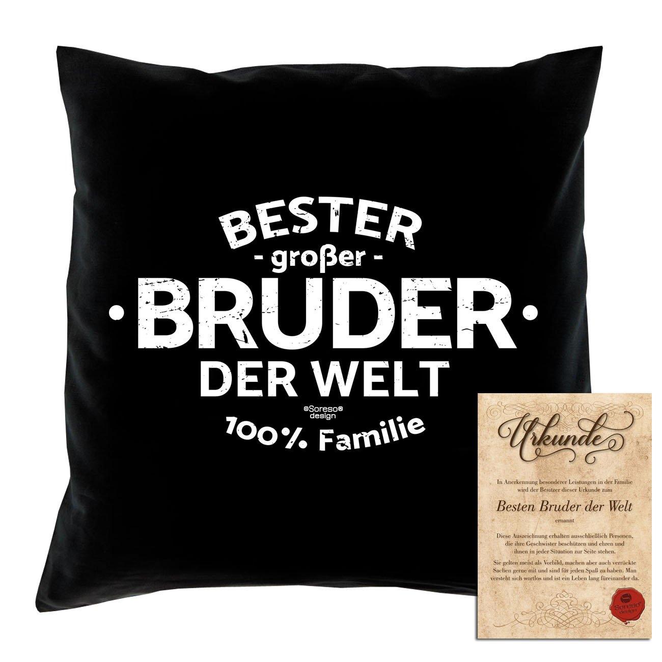Soreso Design Geschenk-Set : Bester großer Bruder der Welt - Kissen ...