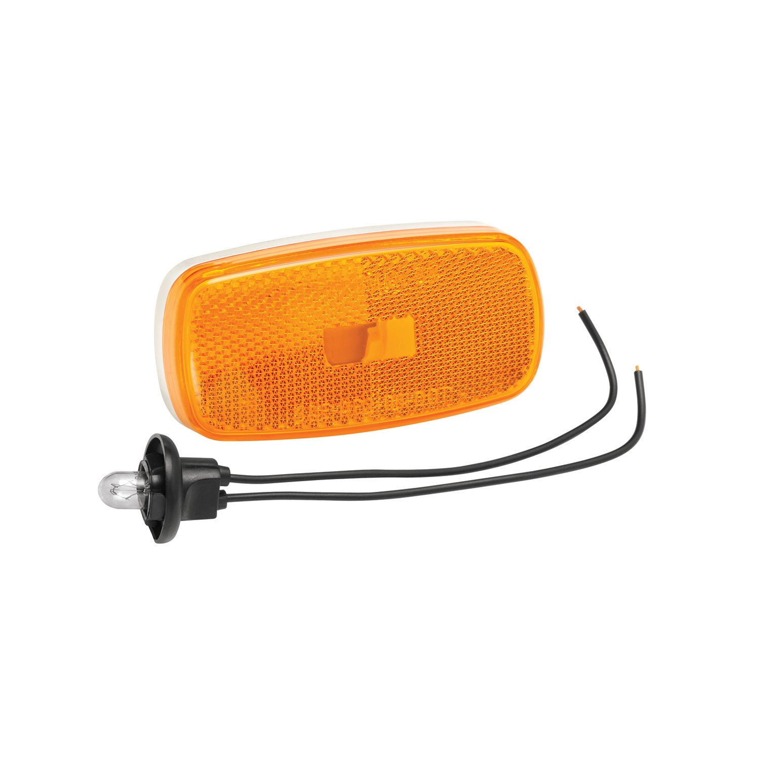Bargman 31-59-002 Clearance/Side Marker Light (with White Base - Amber)