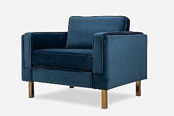 Remarkable Albany Park Midcentury Modern Armchair Blue Velvet Ocoug Best Dining Table And Chair Ideas Images Ocougorg