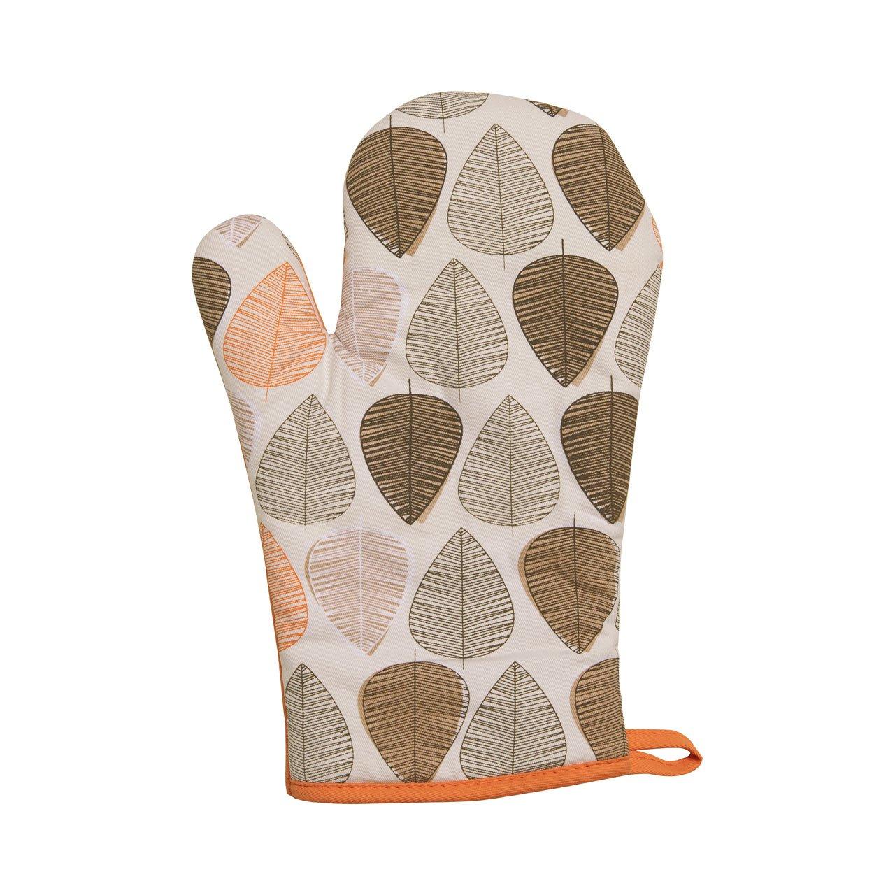100 Cotton Set Orange Premier Geschirrtücher Blatt Geschirrtücher 3er Set