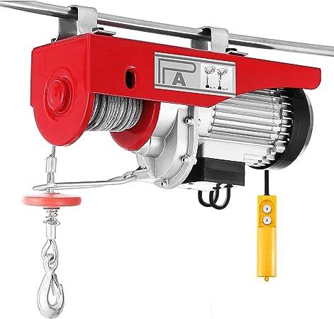 440 Lb Electric Cable Hoist Crane Lift Garage Auto Shop Winch W//Remote 110V