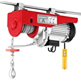 BestEquip Electric Hoist 1320 LBS Lift Electric Hoist 110V 1050W Overhead Electric Hoist with Remote Control (1320LBS)