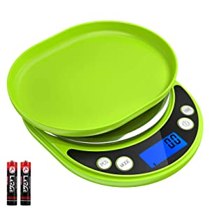 Brifit Food Scale, 3000g Digital Kitchen Scale for Cooking (Battery Included)