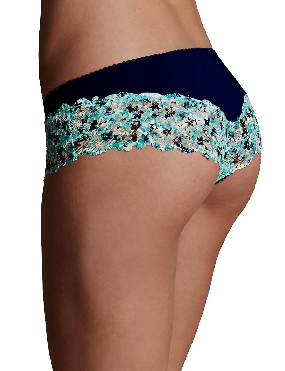beb8b19b387c Ladies Ex M&S Lace Trim No VPL Brazilian Knickers: Amazon.co.uk: Clothing