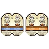 Nutro Perfect Portions Grain Free Soft Loaf Cat Food 2 Flavor 8 Can Variety Bundle: (4) Chicken & Shrimp Recipe, and (4) Salm