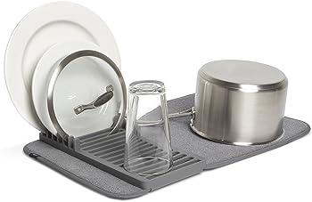 Umbra Udry 20 x 13 Mini Dish Rack and Drying Mat