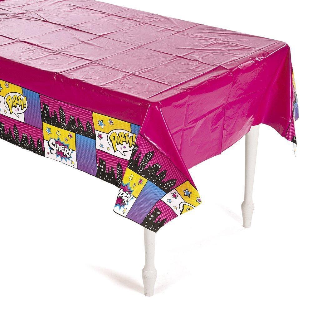 Superhero Girl Plastic Tablecloth (54' x 108') (2)