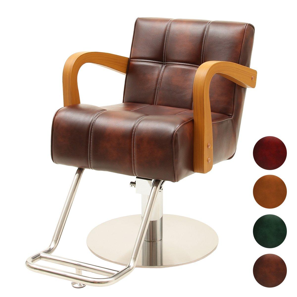 < エトゥベラ > スタイリングチェア ベニス WD-881 アンティークブラウン [ チェア 椅子 イス セットチェア セット椅子 セットイス カットチェア カット椅子 カットイス 美容室椅子 美容室 美容師 ]  アンティークブラウン B00VFVAJUY