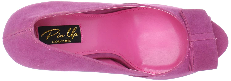 Pin UK up Couture BELLA-10 Fuchsia Sueded Pu UK Pin 2 (EU 35) - 337e51