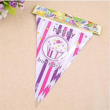 loveven princesa hielo crema triángulo bandera 12 pcs ...