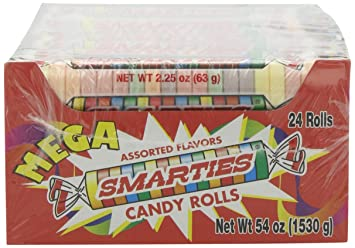 Smarties Candy Rolls, Mega,2 25 Ounce(24 Count)