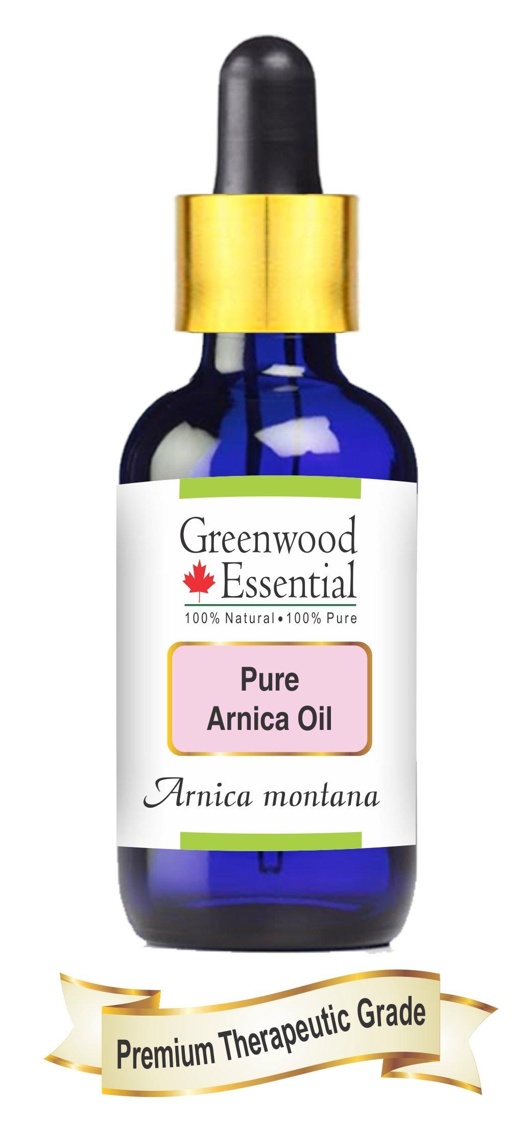 Pure Arnica Oil 100% Natural Cold Pressed & Therapeutic Grade Arnica montana