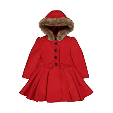 e0cfb5837 Mothercare Baby Girls  Wool Swing Coat RED
