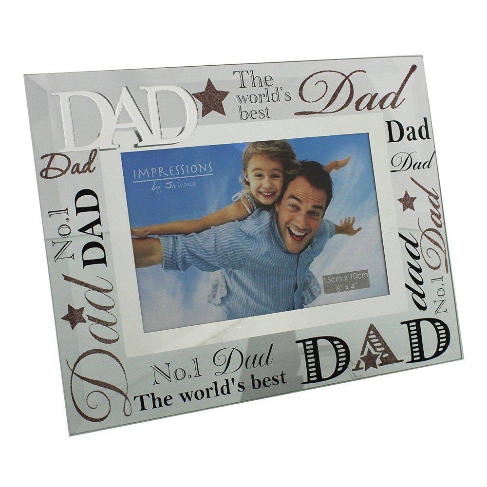 Amazon.de: Dad verspiegelt Worte Bilderrahmen LOVELY Geschenk für ...