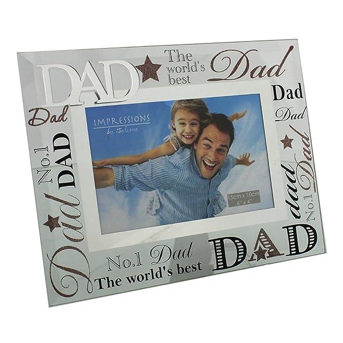 """5 opinioni per Specchio con cornice portafoto con scritta """"Dad"""", ideale come regalo un papà"""