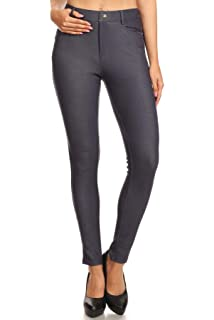 3 pack WOMENS HIGH WAISTED SKINNY JEANS JEGGINGS LADIES SLIM STRETCHY PANTS SOFT