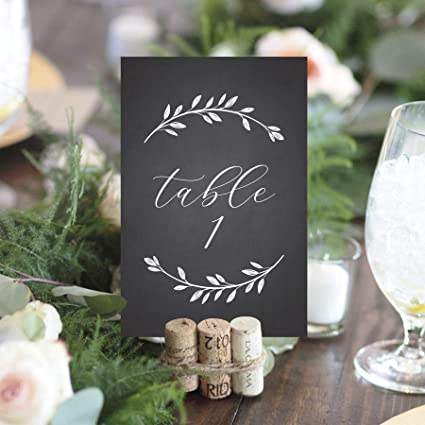 amazon com bliss paper boutique chalkboard wedding table numbers