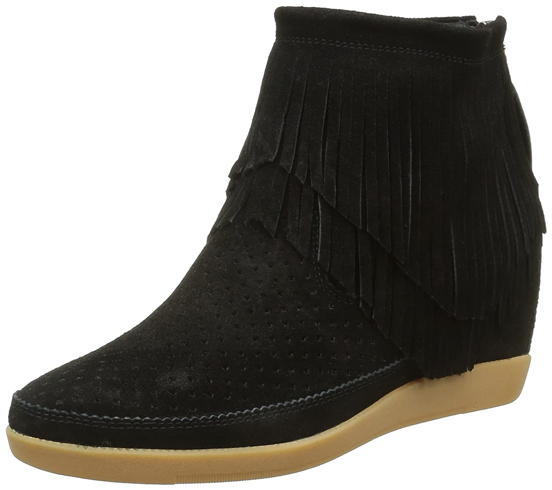 Shoe The Bear Emmy Fringes, Zapatillas Altas para Mujer 36 EU|Negro (Black)