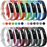 Soulen for Fitbit Alta and Alta HR Bands, 14-Pack Soft Silicone Replacement Classic Bands Large Small Available in Varied Colors with Secure Buckle for Fitbit Alta and Alta HR Bands