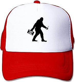 zengjiansm Gorras béisbol Sasquatch Bigft with Beer Mesh Adjustable Cl Snapback Hat