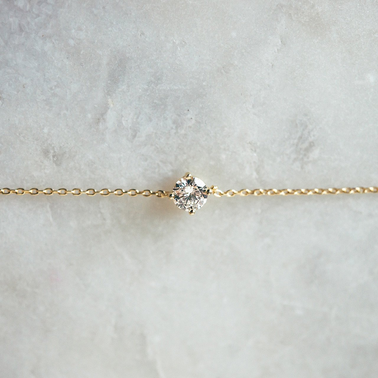 PAVOI 14K Gold Plated Simulated Solitaire Diamond Bracelet - Yellow by PAVOI (Image #6)