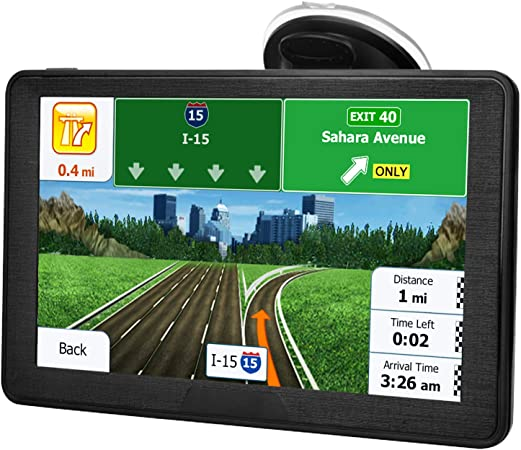 Amazon Com Gps Navigation For Car Latest 2020 Map 7 Inch Touch Screen Real Voice Spoken Turn By Turn Direction Reminding Navigation System For Cars Vehicle Gps Satellite Navigator With Free Lifetime Map Update Gps