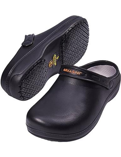 Amazon Com Jinstar Unisex Black Non Slip Chef Shoes Slip Resistant