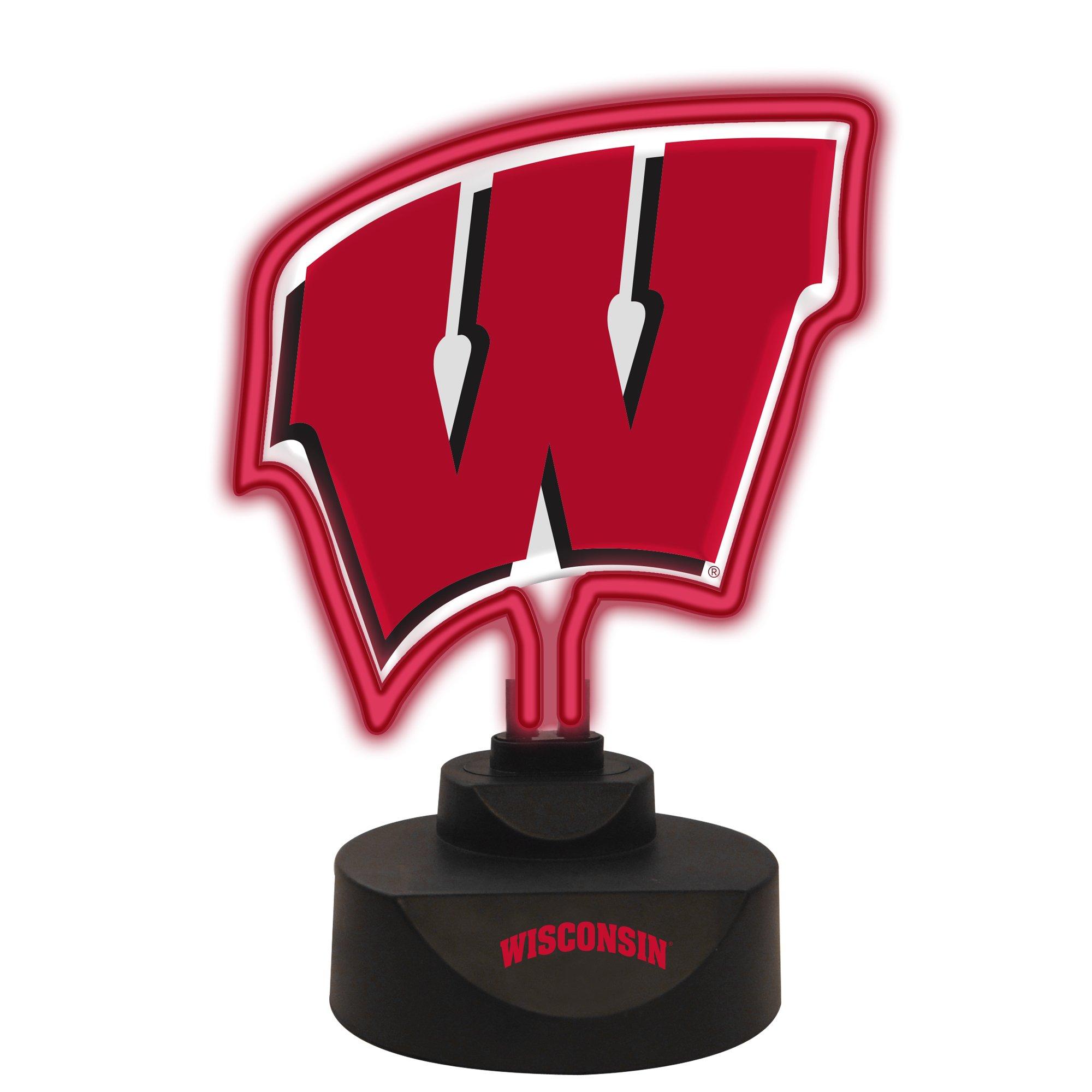 The Memory Company NCAA University of Wisconsin Team Logo Neon Lamp, One Size, Multicolor