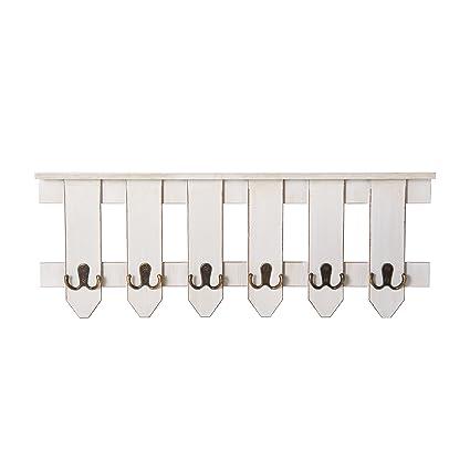Amazon MELANNCO 40Hook Picket Fence Coat Rack White 40Inch Inspiration Picket Fence Coat Rack