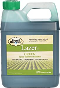 Liquid Harvest Lazer Green Concentrated Spray Pattern Indicator - 1 Quart (32 Ounces) - Perfect Weed Spray Dye, Herbicide Dye, Fertilizer Marking Dye, Turf Marker and Herbicide Marker