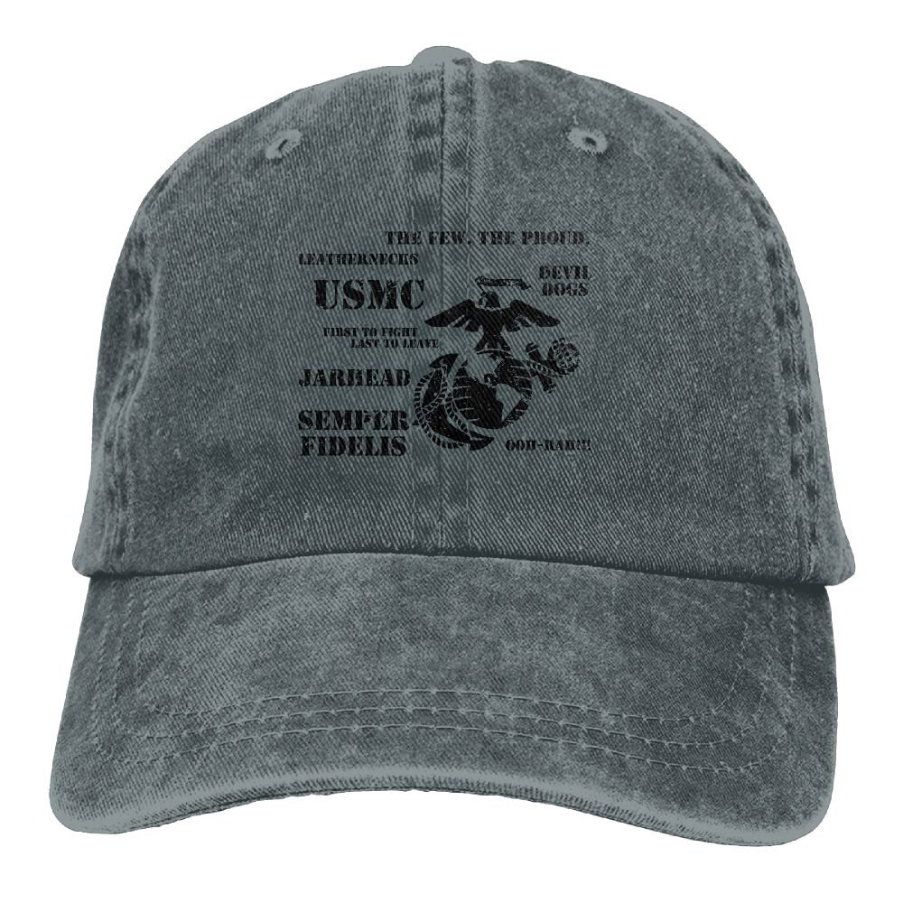 83e72966 UCOOLE Semper Fi US Marine Corps Dad Hat Adjustable Denim Hat Classic  Baseball Cap at Amazon Men's Clothing store: