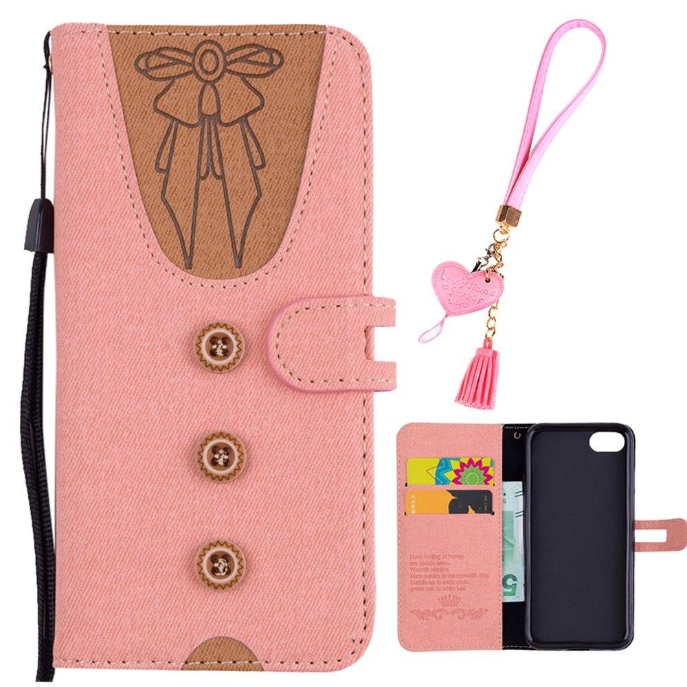 iPhone 6S Tasche iPhone 6S Flip Case Edaroo Cute Design Rot PU Leder Kunstleder Flip Case mit ID Kreditkarten Magnetverschluss Stand Fuction Schutzh/ülle Handytasche f/ür iPhone 6S//6 4.7