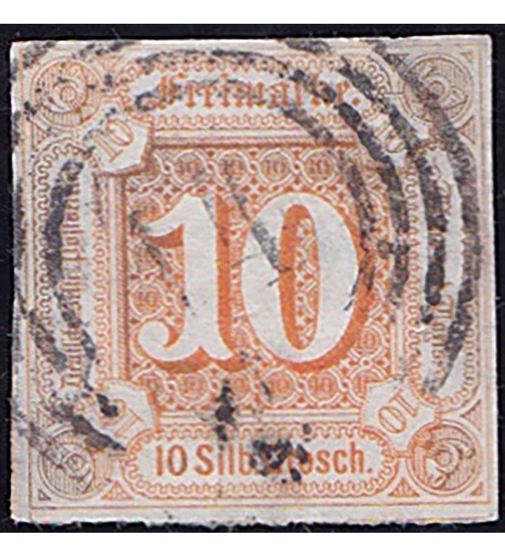 Goldhahn Thurn und Taxis Nr. 19 gestempelt geprüft Briefmarken für Sammler