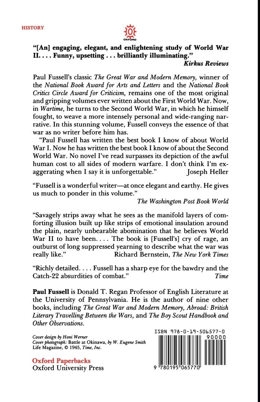 Wartime: Understanding and Behavior in the Second World War ...